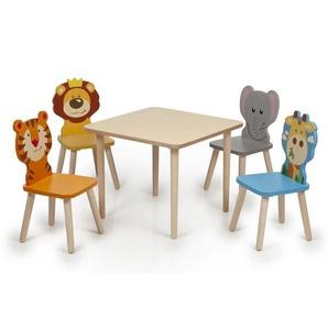 Kindersitzgruppe Holz Tiere Kindertisch und Stühle Tisch Kinder Kleinkind