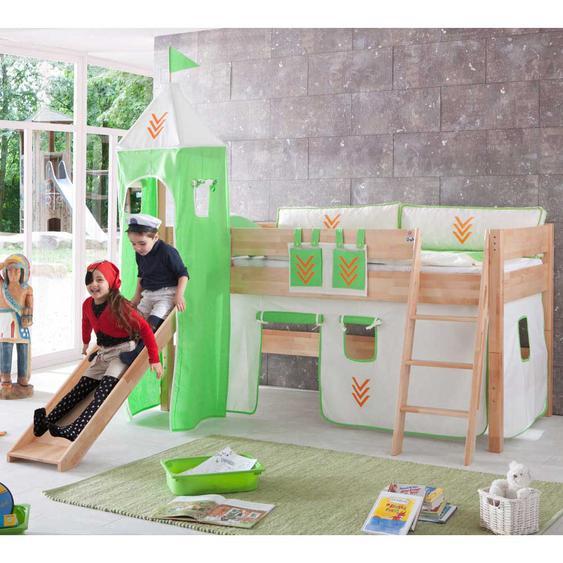Kinderspielbett mit Rutsche schräge Leiter