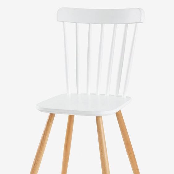 Kinderstuhl ,,Architekt, Sitzhöhe 45 cm weiß/natur