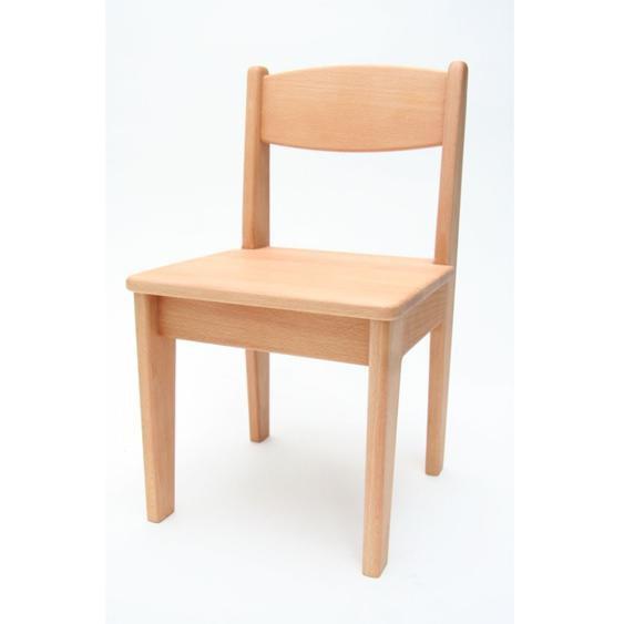 Kinderstuhl Buche Holz massiv geölt Sitzhöhe 32,5 cm Stuhl für Kinder