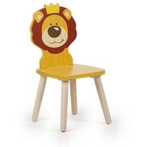 Kinderstuhl Holz Kleinkind Stuhl Tier Löwe gelb Sitzhöhe 28 cm