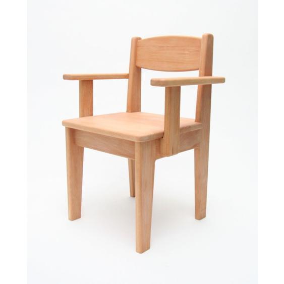 Kinderstuhl mit Armlehne Holz Buche geölt Sitzhöhe 26 cm Kleinkind