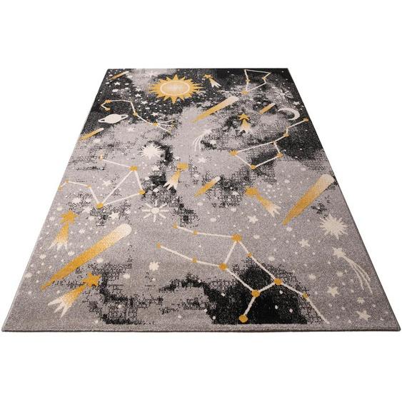 Lüttenhütt Kinderteppich Alena, rechteckig, 14 mm Höhe, für Kinder und Jugendzimmer 7, 240x340 cm, grau Bunte Kinderteppiche Teppiche