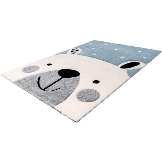 LALEE Kinderteppich Amigo 323, rechteckig, 15 mm Höhe 2, 80x150 cm, blau Kinder Kinderteppiche mit Motiv Teppiche
