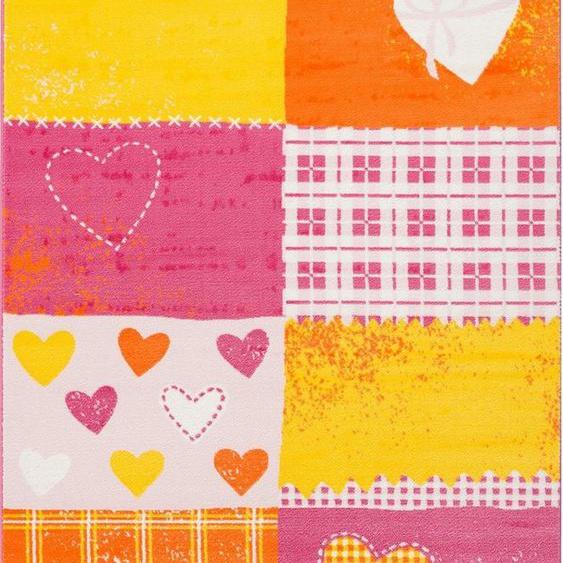 Kinderteppich »Bambino 2105«, Sanat, rechteckig, Höhe 11 mm, Herzen Design, Kurzflor