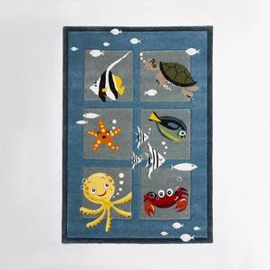 Kinderteppich, Blau, Polypropylen 80 x 150 cm