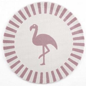 : Kinderteppich, Textil, Creme, Rosa