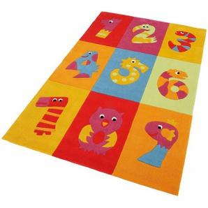 Kinderteppich »Dhanbad«, THEKO, rechteckig, Höhe 15 mm, Kurzflor, handgearbeiteter Konturenschnitt, Kinderzimmer
