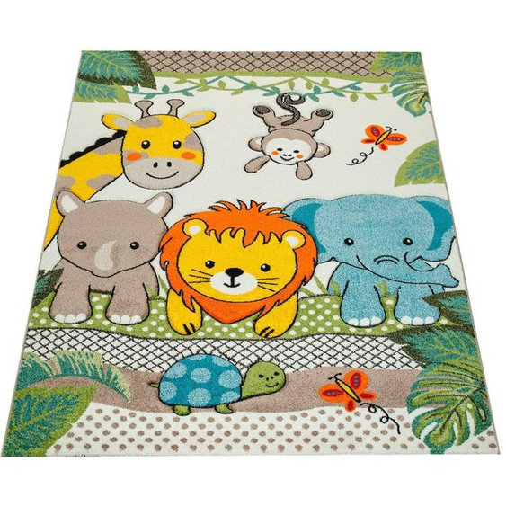 Kinderteppich, Diamond 634, Paco Home, rechteckig, Höhe 18 mm, maschinell gewebt 200x290 cm, mm grün Kinder Bunte Kinderteppiche Teppiche
