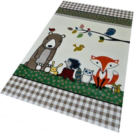 merinos Kinderteppich Diamond Kids 485, rechteckig, 13 mm Höhe 2, 80x150 cm, beige Kinder Kinderteppiche mit Motiv Teppiche