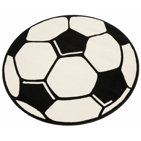 Kinderteppich »Fußball«, HANSE Home, rund, Höhe 10 mm, Fußball Spielteppich für jede Gelegenheit