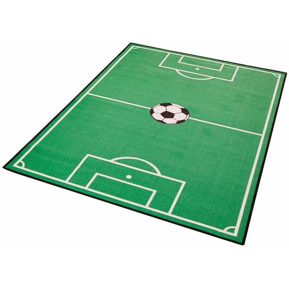 Kinderteppich »Fußballfeld 1«, Zala Living, rechteckig, Höhe 8 mm, Kurzflor, Fußball Spielteppich