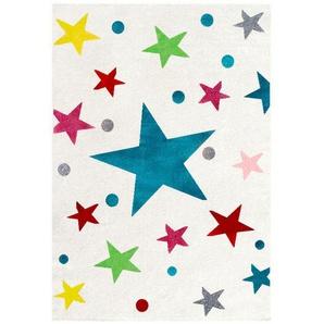 Kinderteppich Happy Rugs , Creme , Textil , Stern , rechteckig , 100 cm , Oeko-Tex® Standard 100 , für Fußbodenheizung geeignet, in verschiedenen Größen erhältlich, pflegeleicht, strapazierfähig , Teppiche & Böden, Teppiche, Kinderteppiche