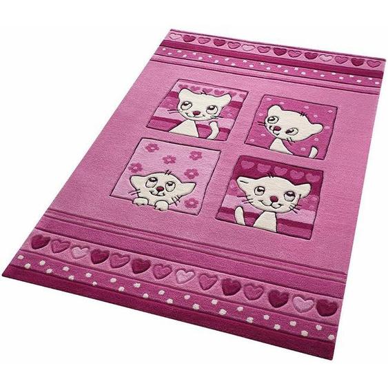 Kinderteppich »Kitty Kat«, SMART KIDS, rechteckig, Höhe 10 mm, mit Katzenmotiv