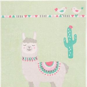 Kinderteppich »Lama Lulu«, LUXOR living, rechteckig, Höhe 12 mm, Lama-Motiv, Pastell-Farben, Kinderzimmer