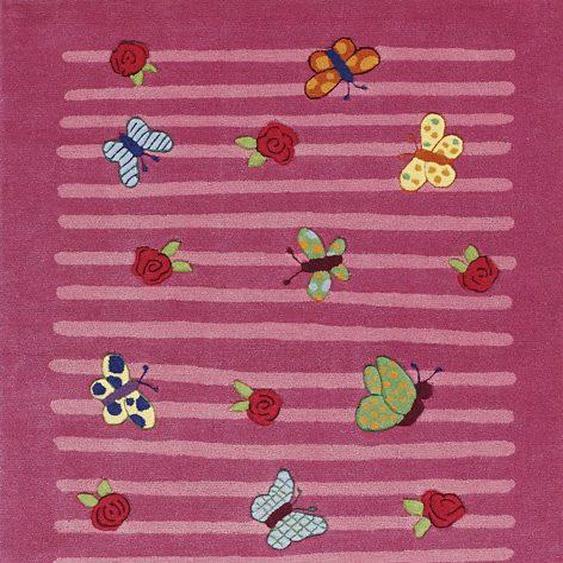 Kinderteppich, LI-2099-01, Prinzessin Lillifee, rechteckig, Höhe 10 mm, handgetuftet 2, 110x170 cm, mm rosa Kinder Bunte Kinderteppiche Teppiche