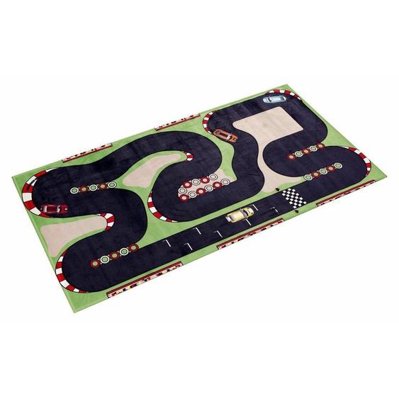 Kinderteppich »Lovely Kids 407«, Böing Carpet, rechteckig, Höhe 6 mm, Straßen-Spielteppich, Motiv Rennstrecke, Kinderzimmer