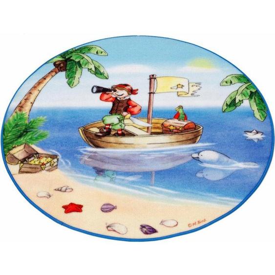 Kinderteppich »Lovely Kids LK-1«, Böing Carpet, rund, Höhe 2 mm, Motiv Pirat, Kinderzimmer