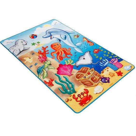 Kinderteppich »Lovely Kids LK-7«, Böing Carpet, rechteckig, Höhe 2 mm, Motiv Ozean, Kinderzimmer
