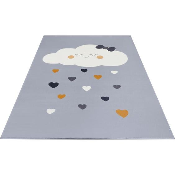 Kinderteppich, Lovely Sky, HANSE Home, rechteckig, Höhe 9 mm, maschinell gewebt 2, 80x150 cm, mm grau Kinder Bunte Kinderteppiche Teppiche