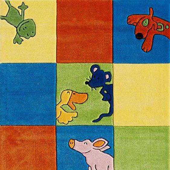 Kinderteppich »LS-2197-01«, Die Lieben Sieben, rechteckig, Höhe 10 mm, Konturenschnitt, Kinderzimmer