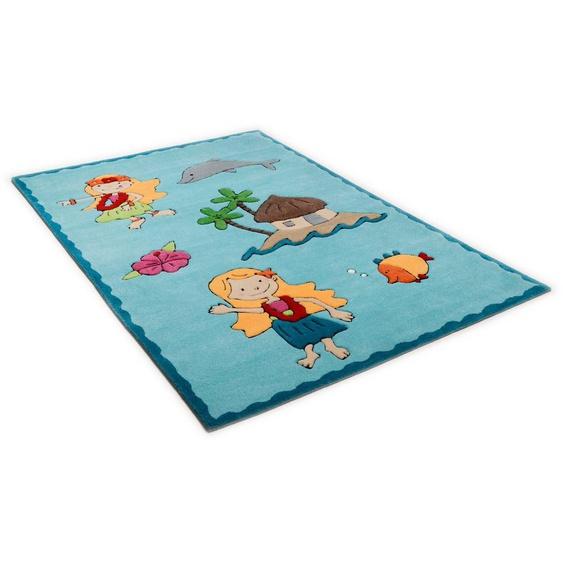 Kinderteppich »Maya«, THEKO, rechteckig, Höhe 14 mm, Kurzflor, hochwertiges Acrylgarn, handgearbeiteter Reliefschnitt (Carving), Kinderzimmer