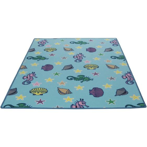 Kinderteppich, Meereswelt Muschel, Living Line, rechteckig, Höhe 7 mm, maschinell gewebt 39, 240x360 cm, mm blau Kinder Bunte Kinderteppiche Teppiche