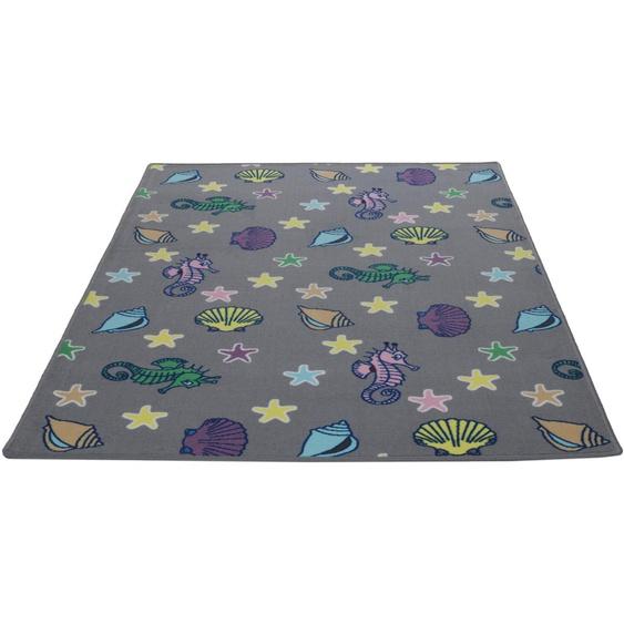 Kinderteppich, Meereswelt Muschel, Living Line, rechteckig, Höhe 7 mm, maschinell gewebt 39, 240x360 cm, mm grau Kinder Bunte Kinderteppiche Teppiche
