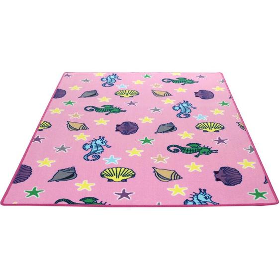 Kinderteppich, Meereswelt Muschel, Living Line, rechteckig, Höhe 7 mm, maschinell gewebt 39, 240x360 cm, mm rosa Kinder Bunte Kinderteppiche Teppiche