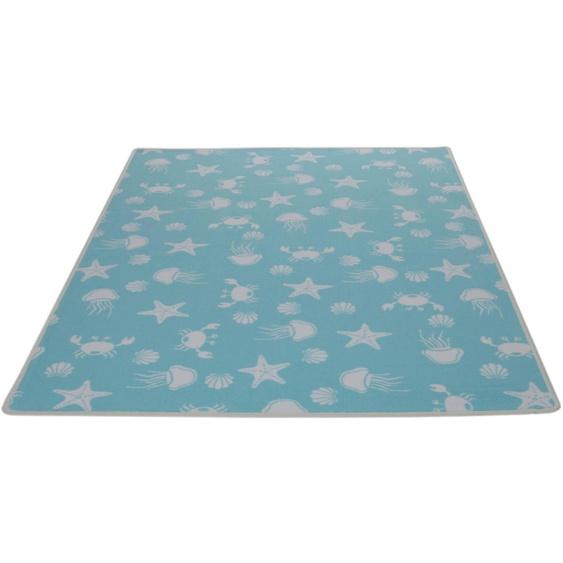 Kinderteppich, Meereswelt weiß, Living Line, rechteckig, Höhe 7 mm, maschinell gewebt 39, 240x360 cm, mm blau Kinder Bunte Kinderteppiche Teppiche