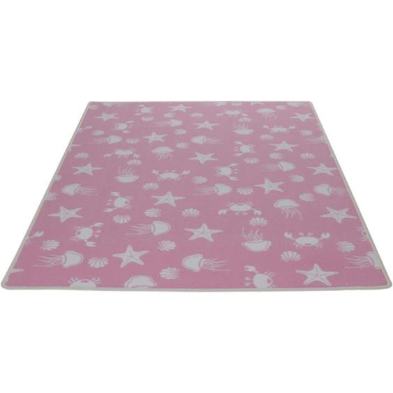 Kinderteppich, Meereswelt weiß, Living Line, rechteckig, Höhe 7 mm, maschinell gewebt 39, 240x360 cm, mm rosa Kinder Bunte Kinderteppiche Teppiche
