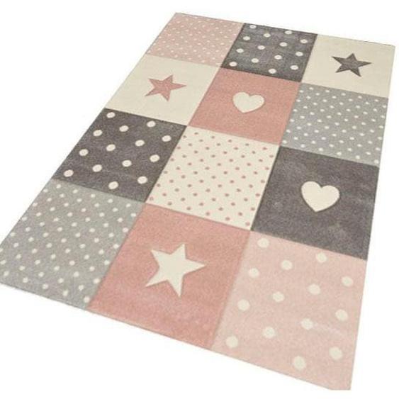merinos Kinderteppich Pastel Kids 20339, rechteckig, 13 mm Höhe, handgearbeiteter Konturenschnitt 3, 120x170 cm, grau Kinder Kinderteppiche mit Motiv Teppiche