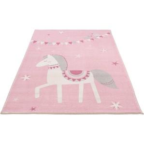 Kinderteppich »Pferd Lotti«, LUXOR living, rechteckig, Höhe 12 mm, Spielteppich, Pastell-Farben, Kinderzimmer