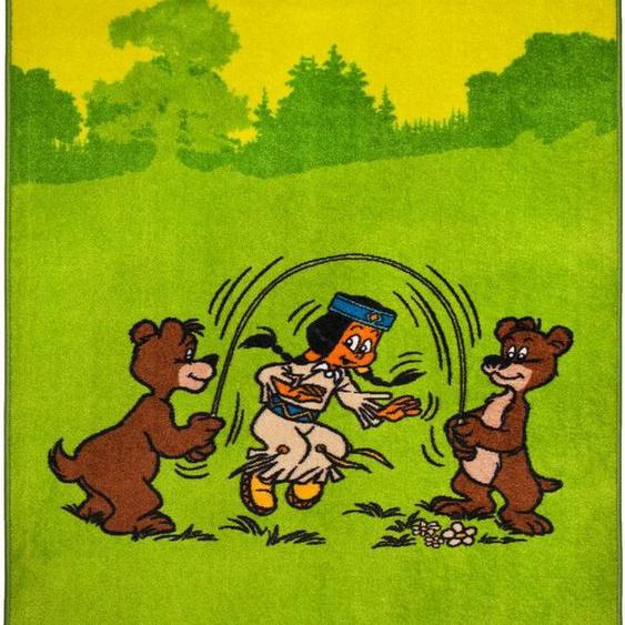 Kinderteppich »Regenbogen und Bären«, YAKARI, rechteckig, Höhe 10 mm, Ränder farblich passend eingefasst (gekettelt), Kinderzimmer