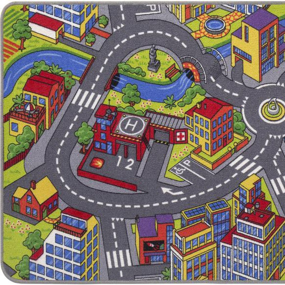 Kinderteppich, Straße, Andiamo, rechteckig, Höhe 5 mm, maschinell getuftet 1, 95x200 cm, mm bunt Kinder Bunte Kinderteppiche Teppiche