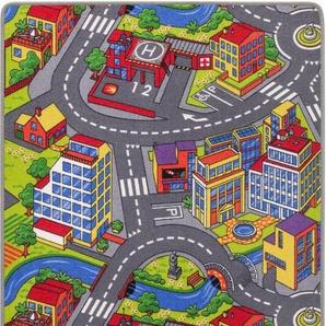 Kinderteppich »Straße«, Andiamo, rechteckig, Höhe 5 mm, Straßenteppich, strapazierfähig, wärmedurchlässig, Straßenbreite: 8,5 cm