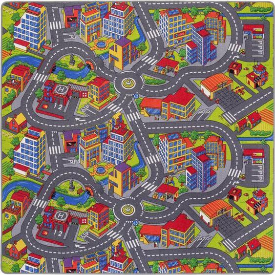 Kinderteppich »Straße«, Andiamo, rechteckig, Höhe 5 mm, Straßen-Spielteppich, Straßenbreite: 8,5 cm, Kinderzimmer