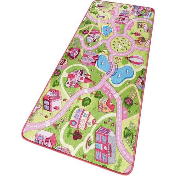 Kinderteppich »Sweettown«, HANSE Home, rechteckig, Höhe 7 mm, Kinder Straßen-Spielteppich, Kurzflor