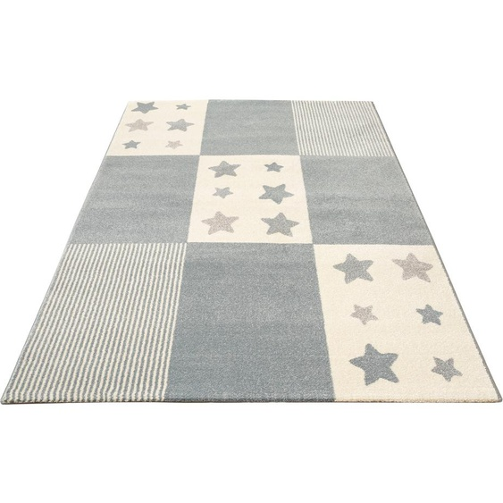 Kinderteppich, Tilly, Lüttenhütt, rechteckig, Höhe 14 mm, maschinell gewebt 7, 240x340 cm, mm blau Kinder Bunte Kinderteppiche Teppiche