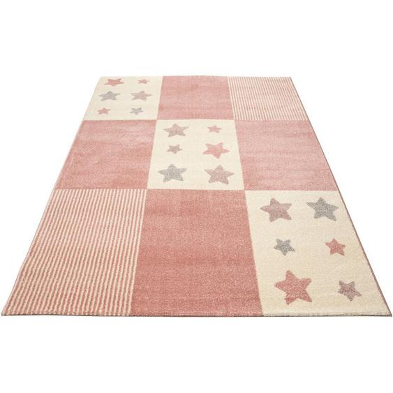Lüttenhütt Kinderteppich Tilly, rechteckig, 14 mm Höhe, pastelfarben 7, 240x340 cm, rosa Kinder Bunte Kinderteppiche Teppiche