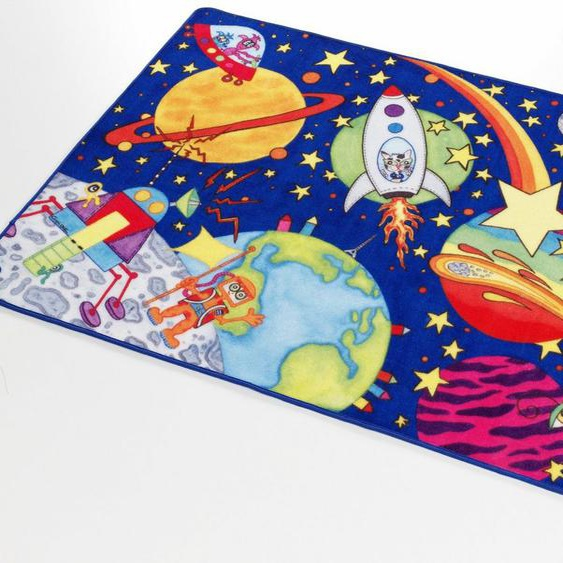 Kinderteppich »Weltall WA-1«, Böing Carpet, rechteckig, Höhe 2 mm, Druckteppich, Kinderzimmer