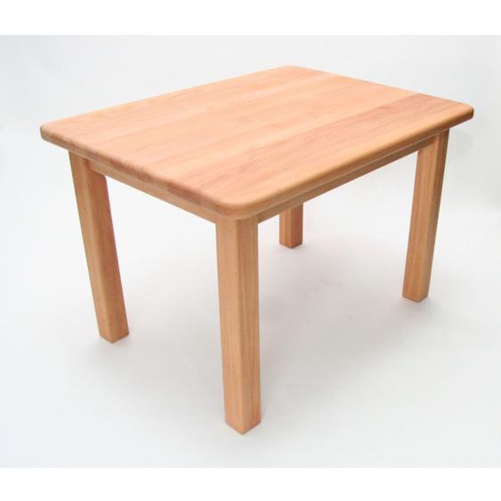 Kindertisch Buche Holz massiv geölt Höhe 53 cm