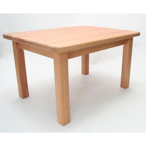 Kindertisch Holz Buche massiv geölt Höhe 49 cm Kleinkind