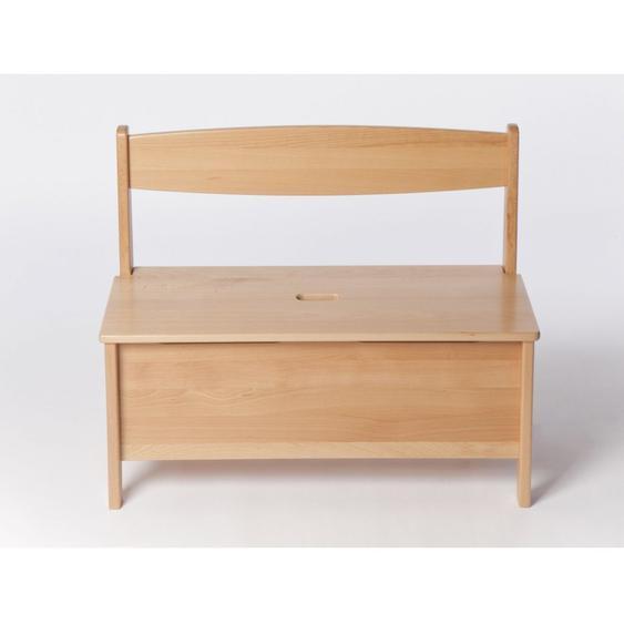 Kindertruhenbank Holz Buche massiv lackiert Sitzhöhe 32,5 cm