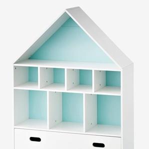 """Kinderzimmer Regal in Hausform """"Maison"""" weiß"""