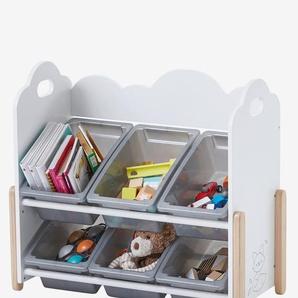 """Kinderzimmer Regal mit Boxen """"Wolke"""" weiß"""