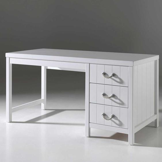 Kinderzimmer Schreibtisch in Weiß 150 cm