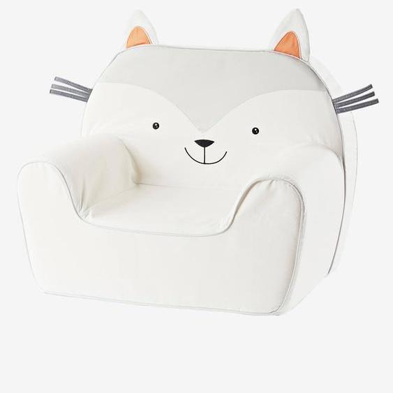 Kinderzimmer Sessel ,,Katze, personalisierbar grau