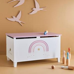 """Kinderzimmer Spielzeugtruhe """"Make a wish"""" weiß"""