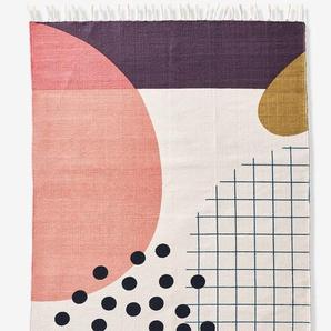 """Kinderzimmer Teppich """"Farbkasten"""" rosa/mehrfarbig"""